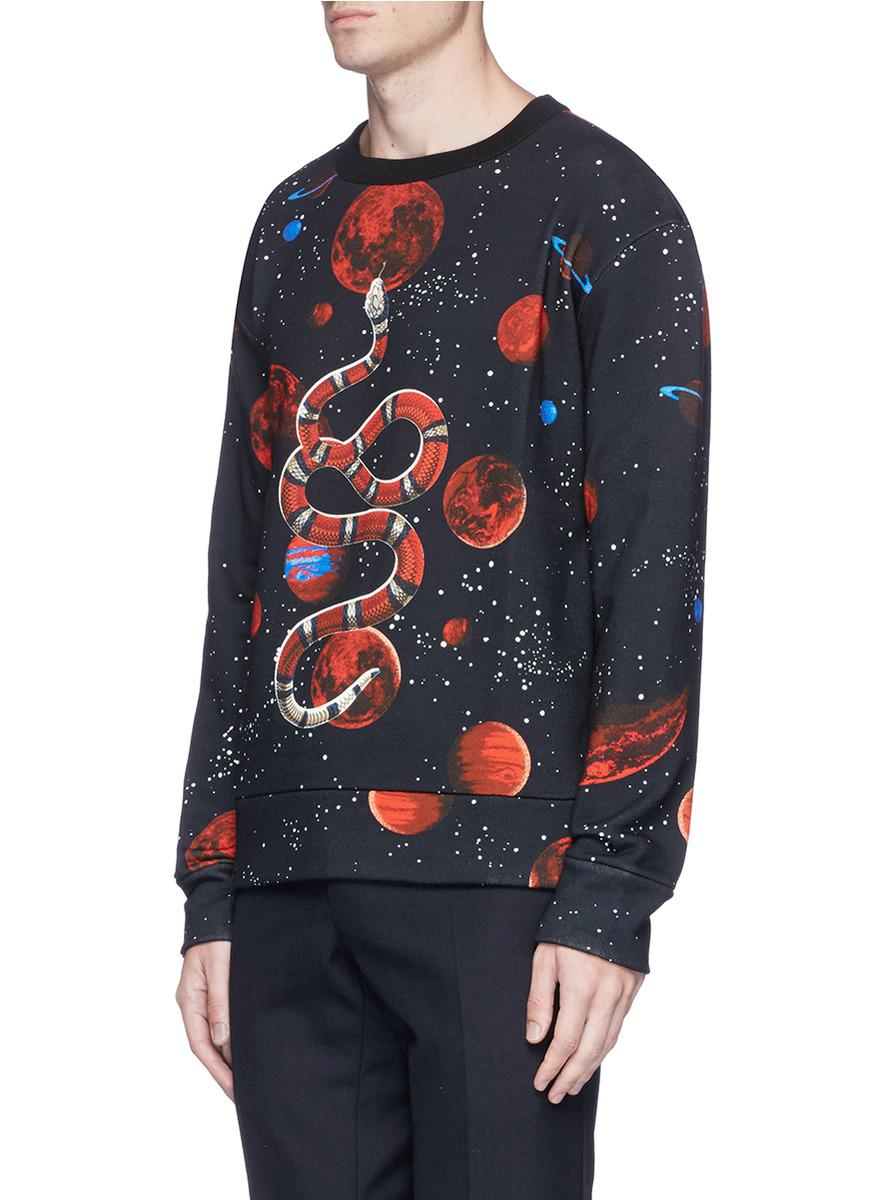 d6034bfed5c7 Gucci 'space Snake' Print Sweatshirt in Blue for Men - Lyst