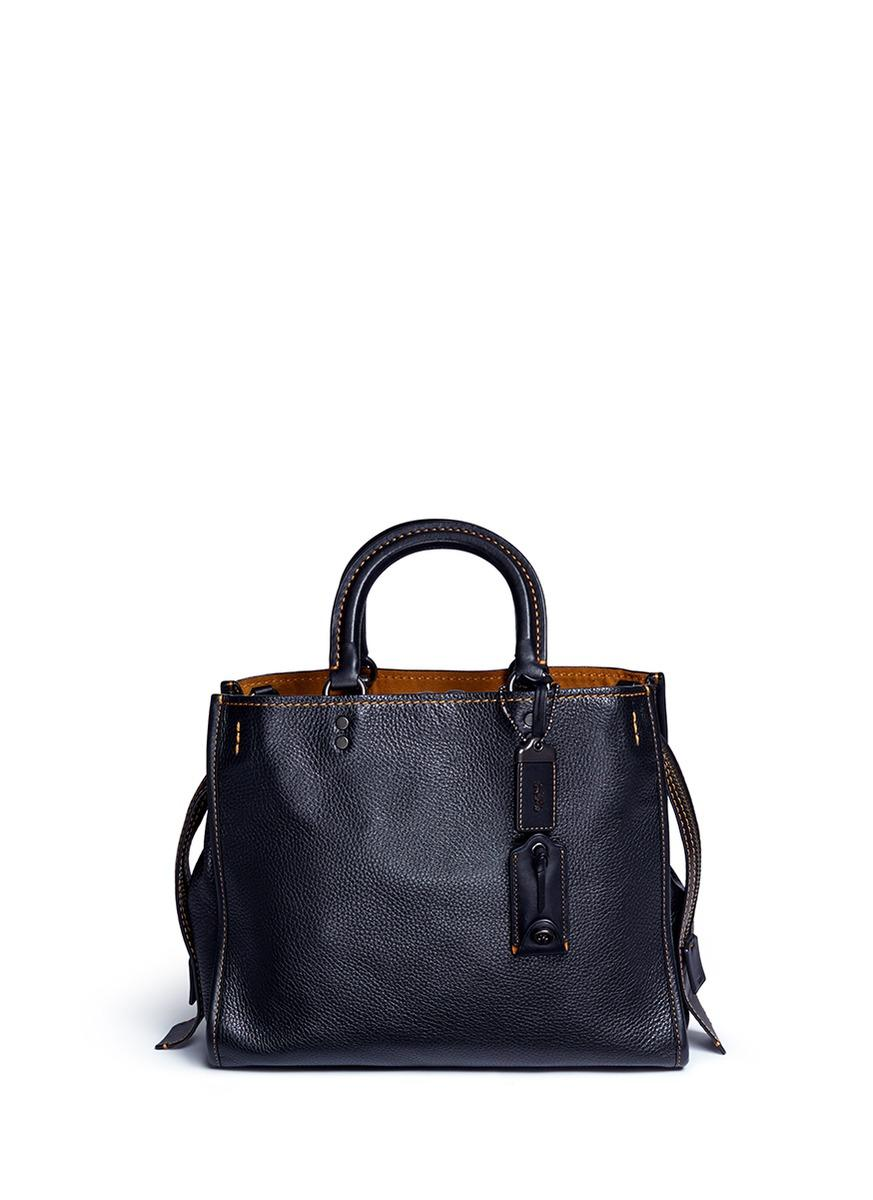 Lyst Coach Rogue Glovetanned Leather Shoulder Bag In Blue