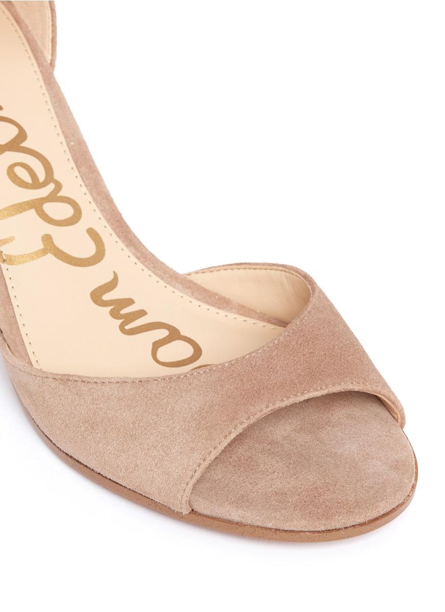 410ccbf896ad Lyst - Sam Edelman  susie  Block Heel Ankle Strap Suede Sandals