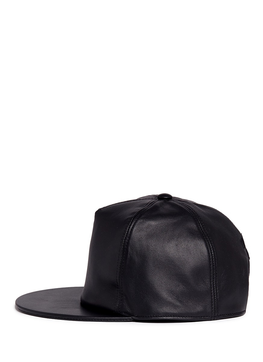 givenchy leather baseball cap  black  men lyst