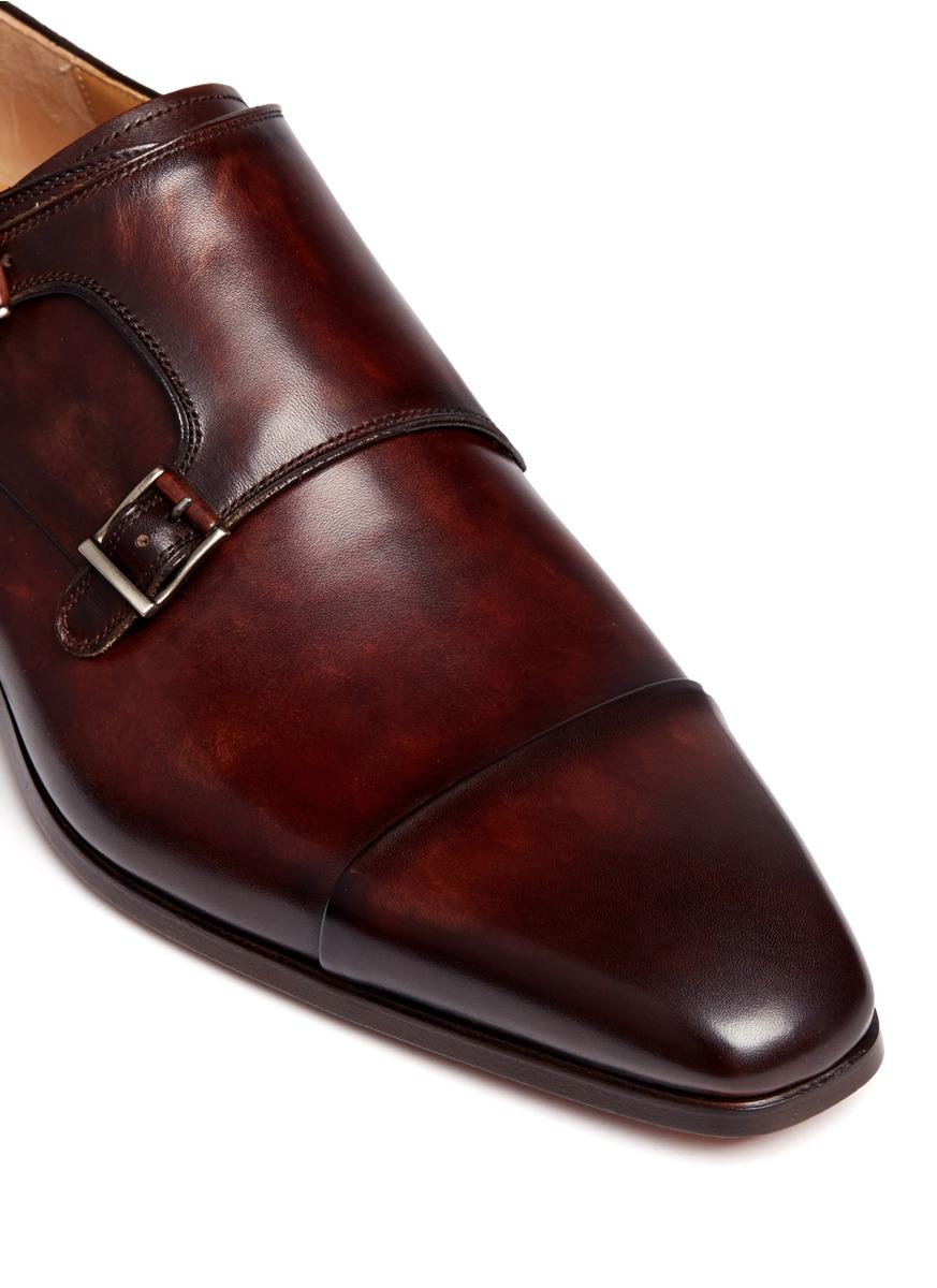 Lyst Magnanni Shoes Leather Double Monk Strap Shoes In