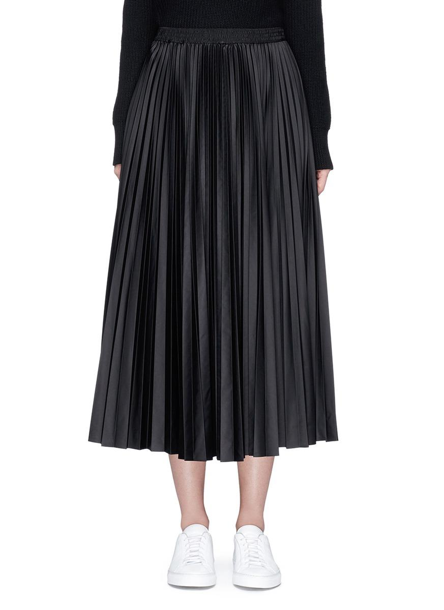 theory dorothea pleated skirt in black lyst