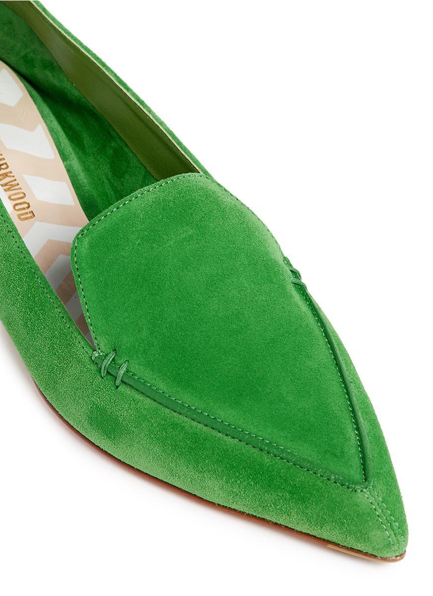Nicholas Kirkwood Kelly Suede Beya Loafers In Green Lyst