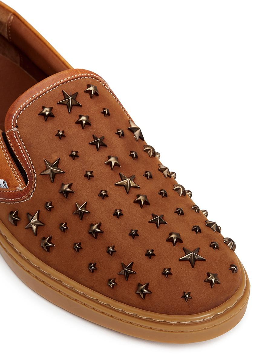 Side Star Shoes With Studs On Toe