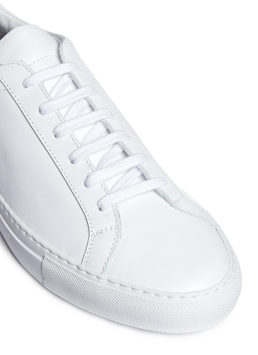 common projects 39 original achilles 39 leather sneakers in white lyst. Black Bedroom Furniture Sets. Home Design Ideas