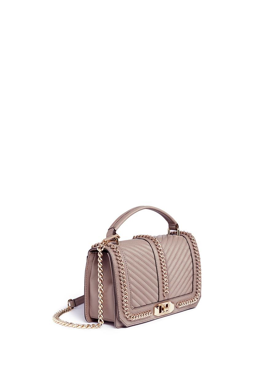 Lyst Rebecca Minkoff Love Curb Chain Quilted Leather