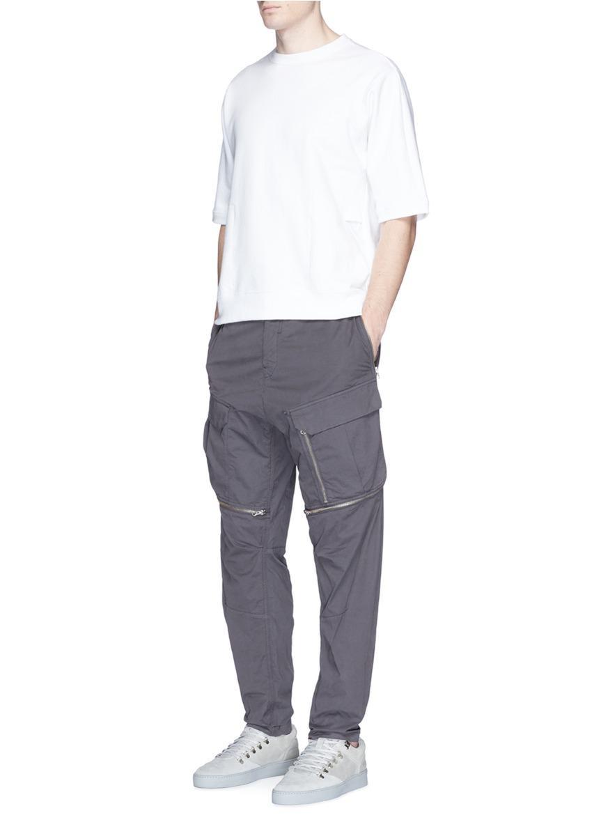 558dfa3171 Stone Island Garment Dye Poplin Cargo Pants in Gray for Men - Lyst