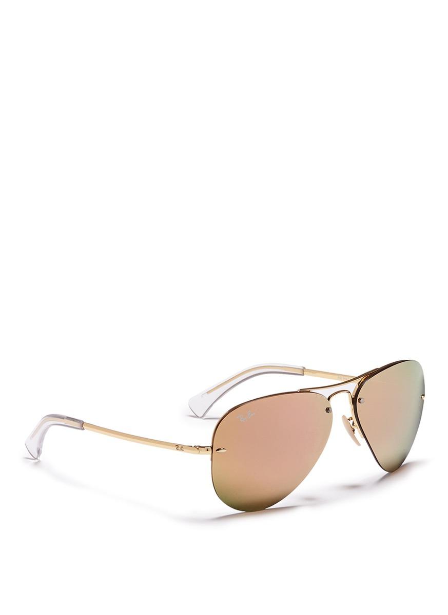 04da957444 Ray-Ban  rb3449  Aviator Mirror Sunglasses in Metallic for Men - Lyst