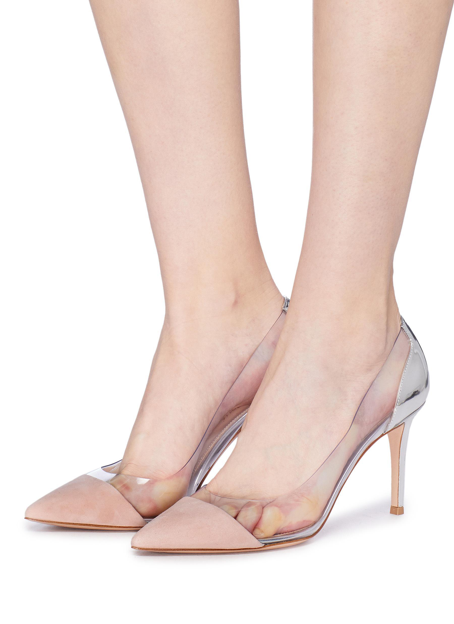 39af1f9ed4a Gianvito Rossi - Multicolor  plexi  Clear Pvc Suede And Leather Pumps - Lyst.  View fullscreen