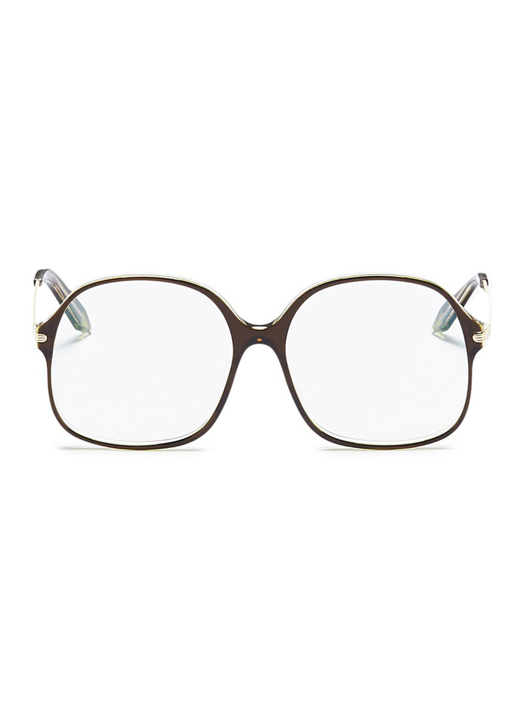 660713f09237 Lyst - Victoria Beckham Acetate Square Optical Glasses in Green