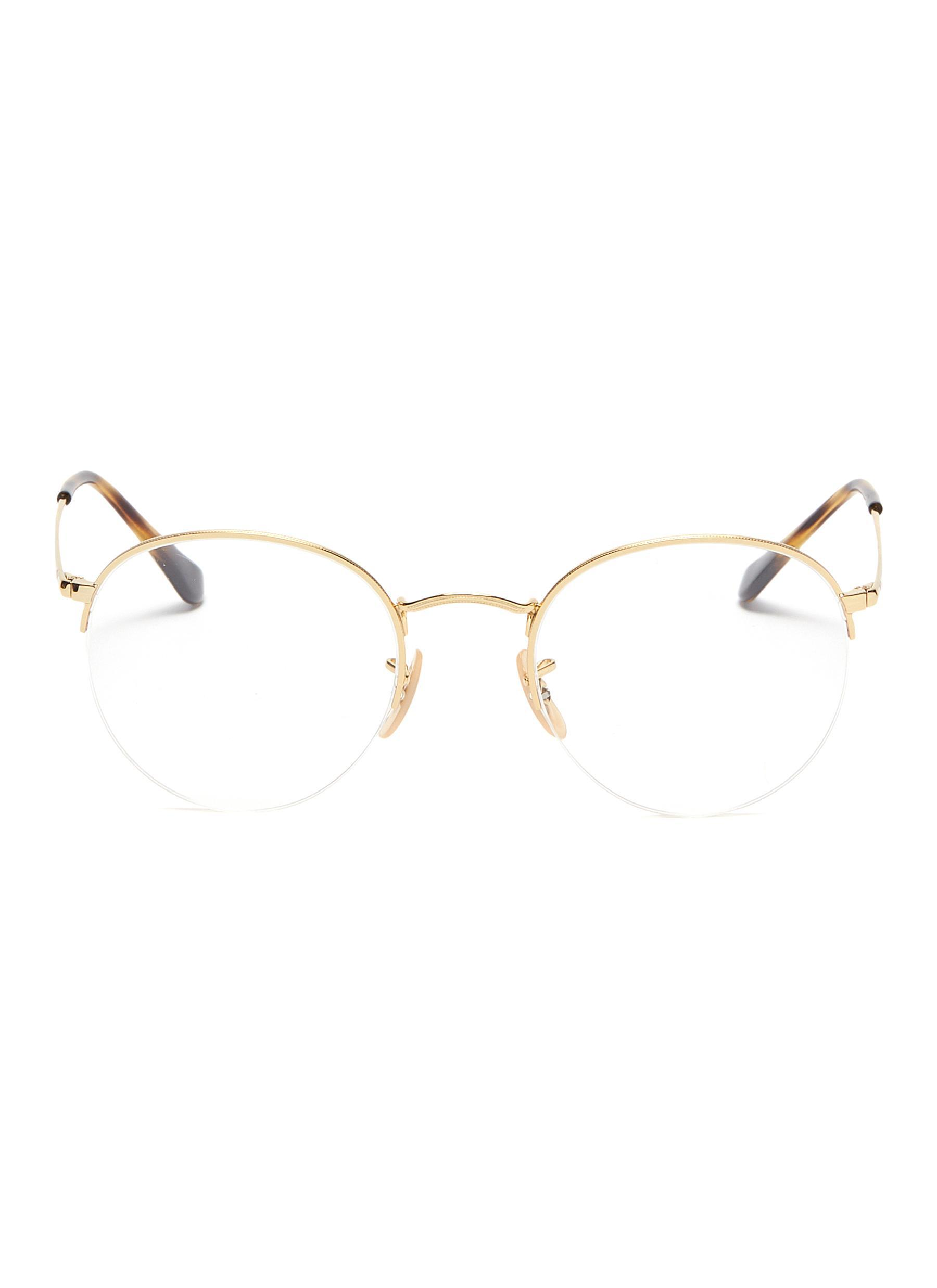 f2eb3eb15c Lyst - Ray-Ban  rx3947  Metal Round Optical Glasses in Metallic for Men