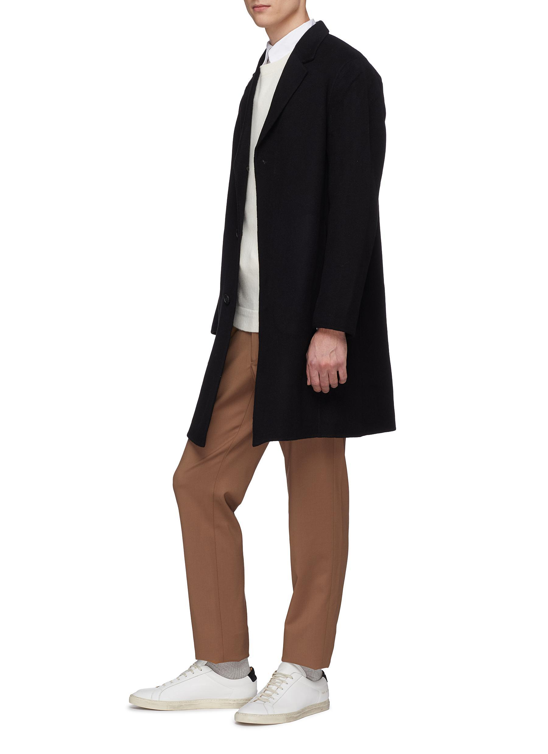 73b8663a34 Theory 'suffolk' Double Faced Cashmere Melton Coat in Black for Men ...