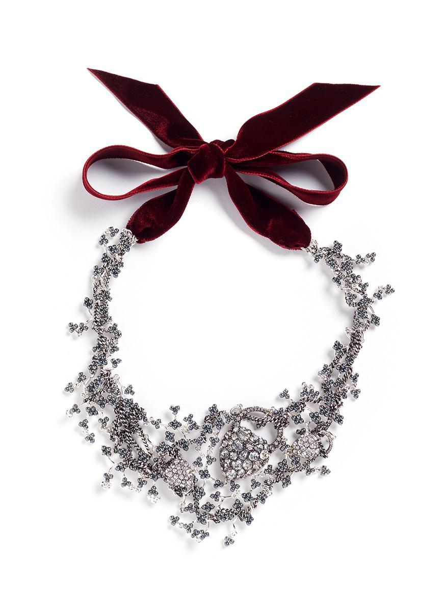 Lulu Frost Nina Crystal Collage Necklace aqA2VHDLO