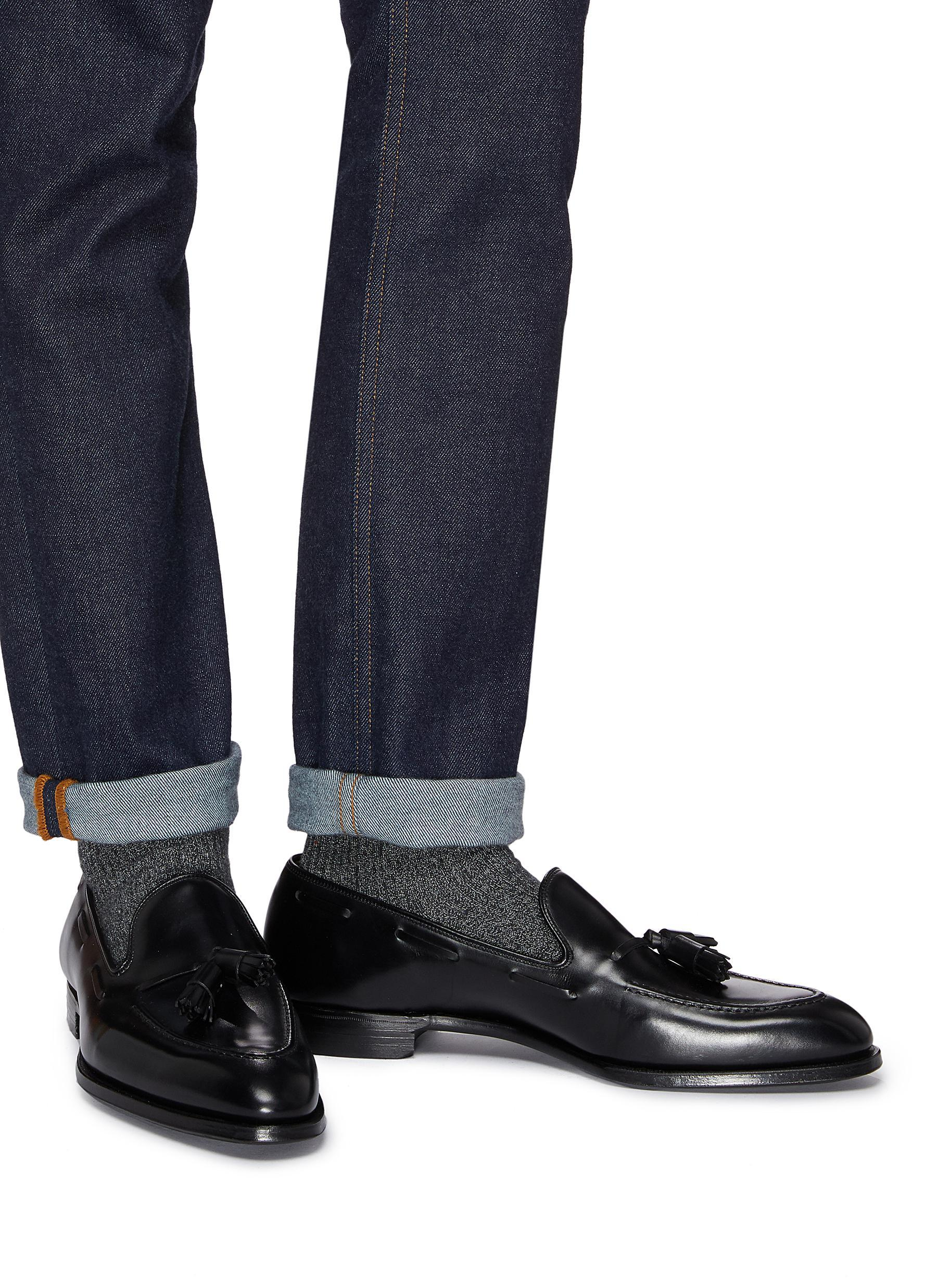 ca53ca99ffa  adrian  Tassel Leather Loafers Lyst Cleverley In For George Black fgtEZx