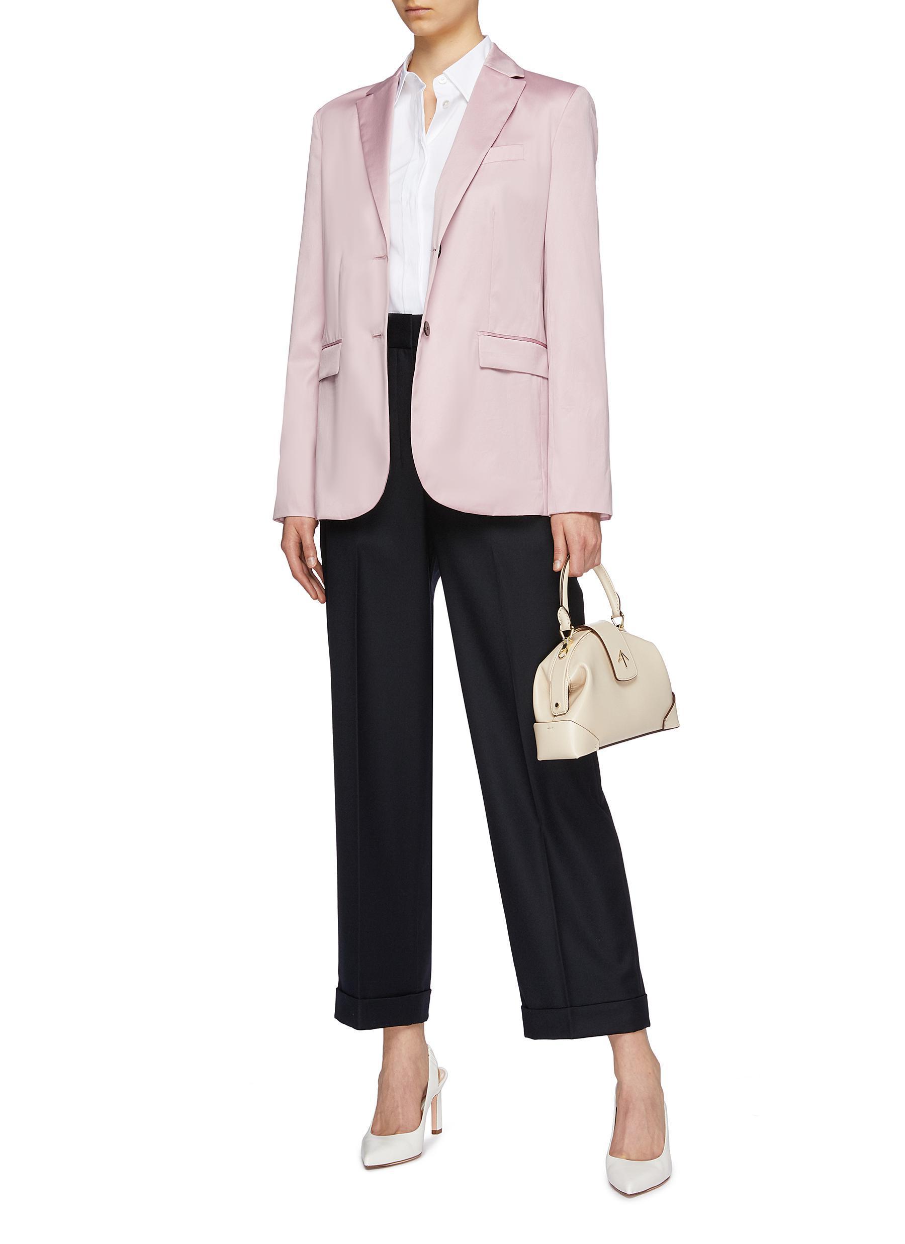 ade4ca43e1 Theory - Pink 'classic' Notched Lapel Cotton Chintz Blazer - Lyst. View  fullscreen
