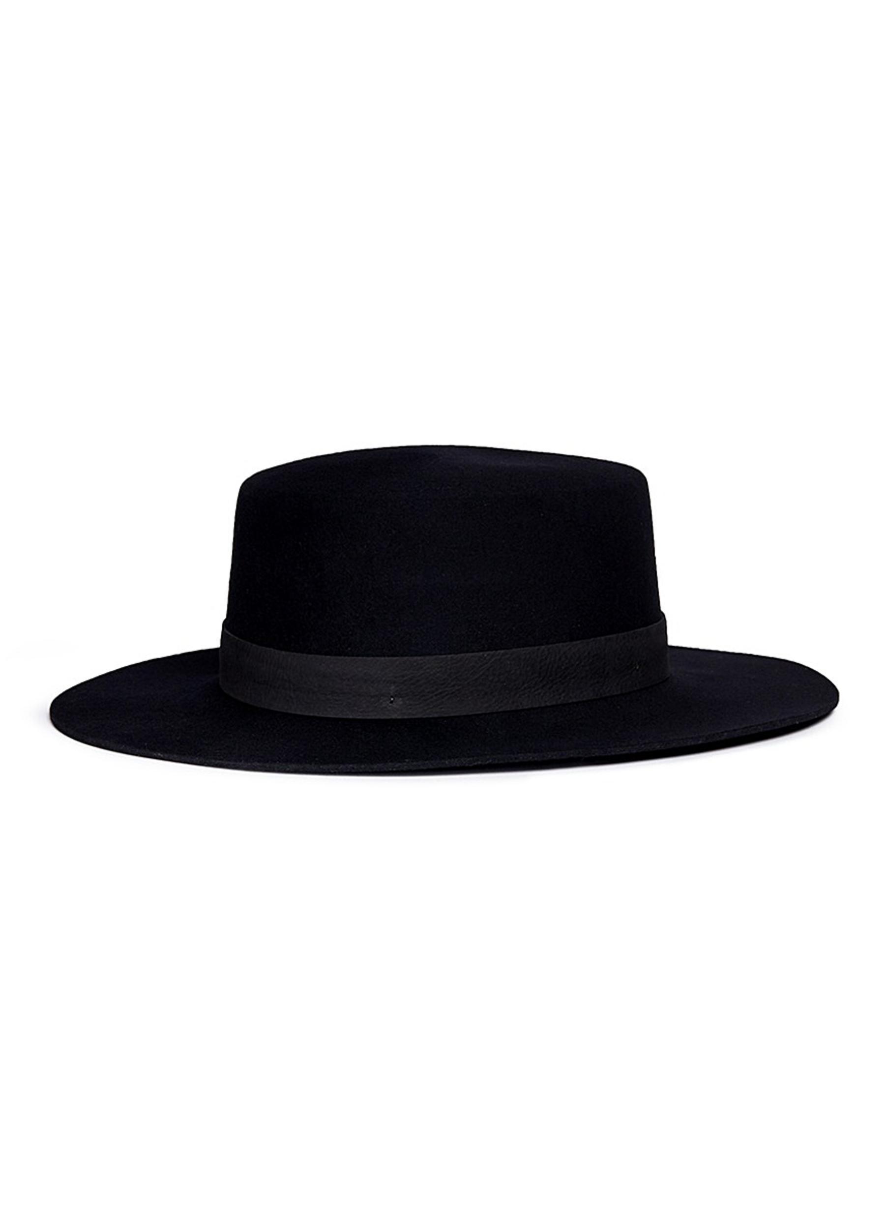 c946ea53 Lyst - Janessa Leone 'gabrielle' Suede Band Wool Felt Bolero Hat in ...