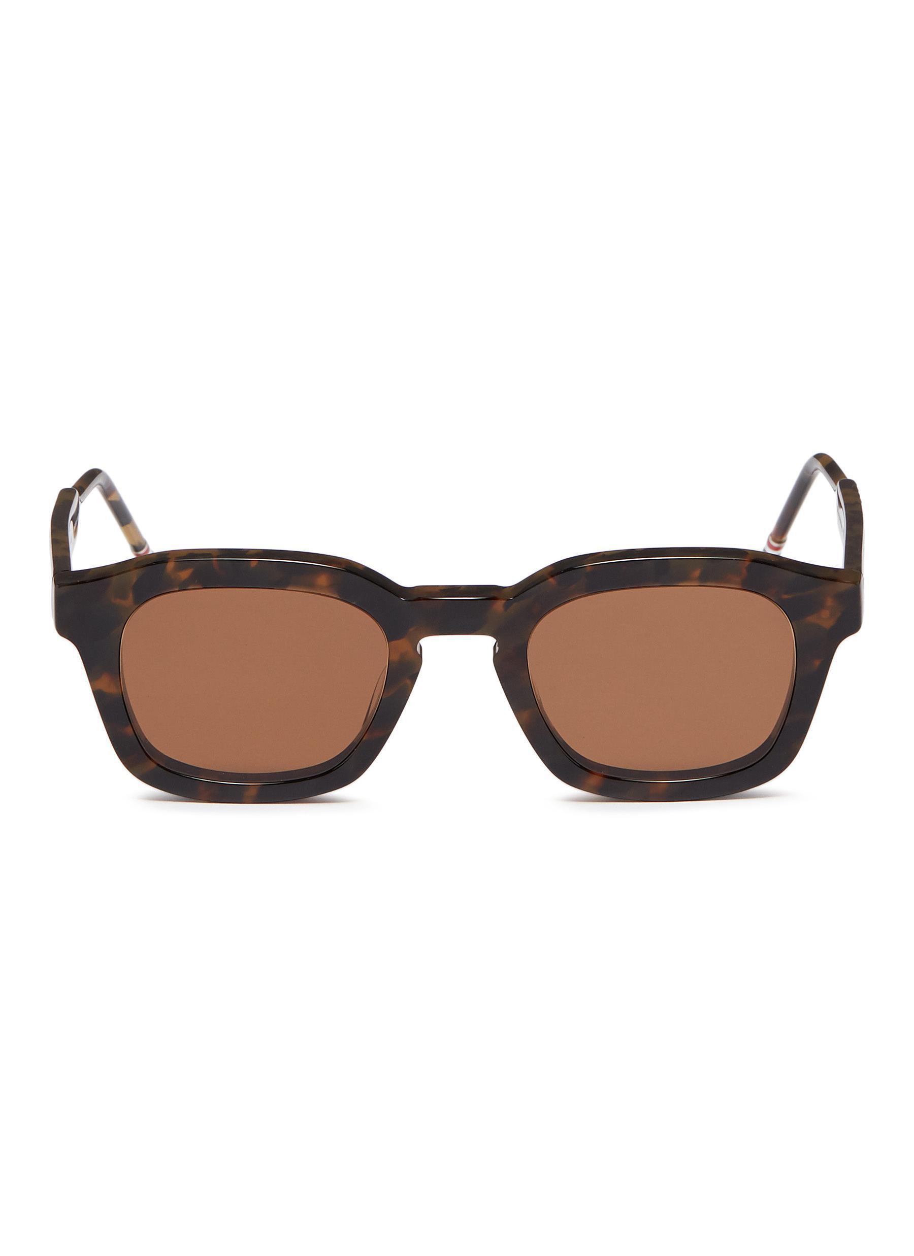 01120d6d0c5 Thom Browne. Men s Brown  tokyo  Tortoiseshell Acetate Square Sunglasses