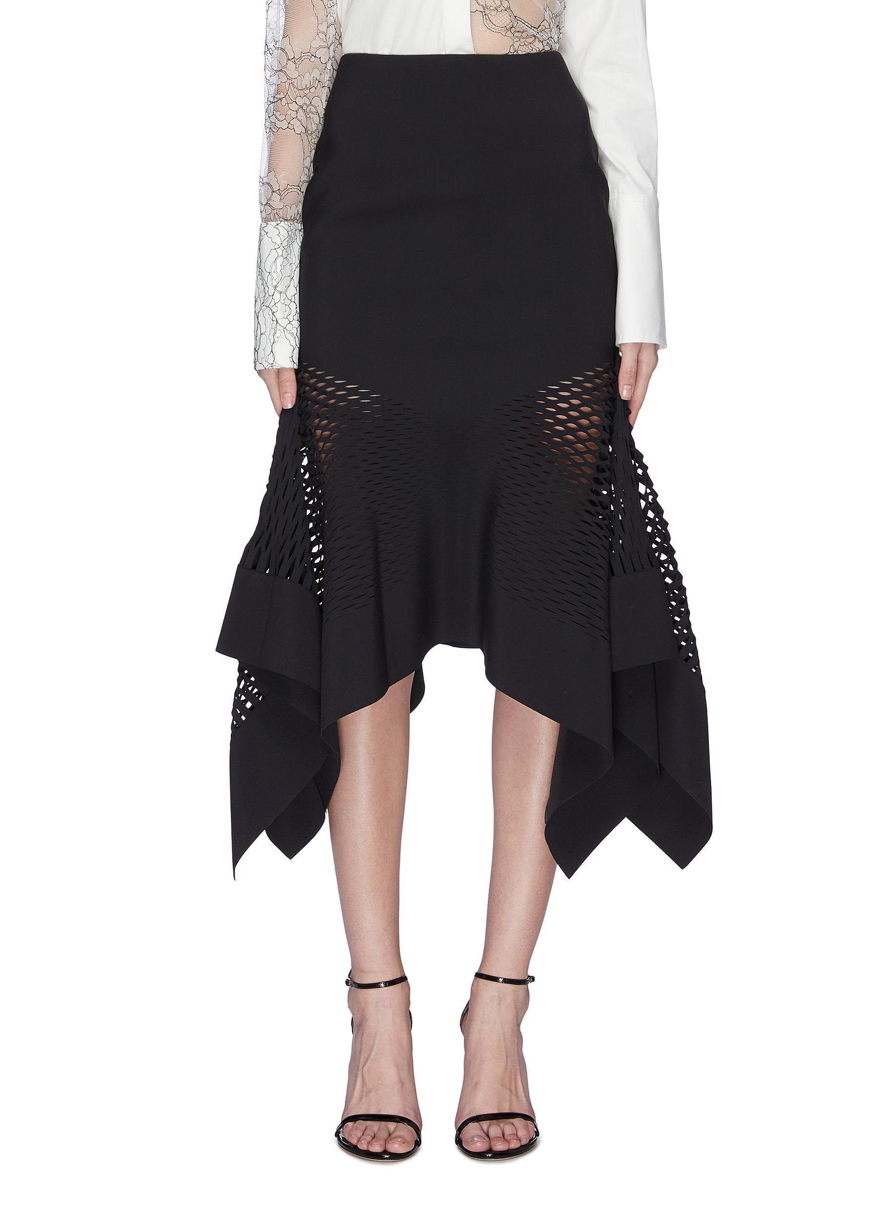 ae8e1a7253 Lyst - Dion Lee 'honeycomb' Lasercut Handkerchief Skirt in Black