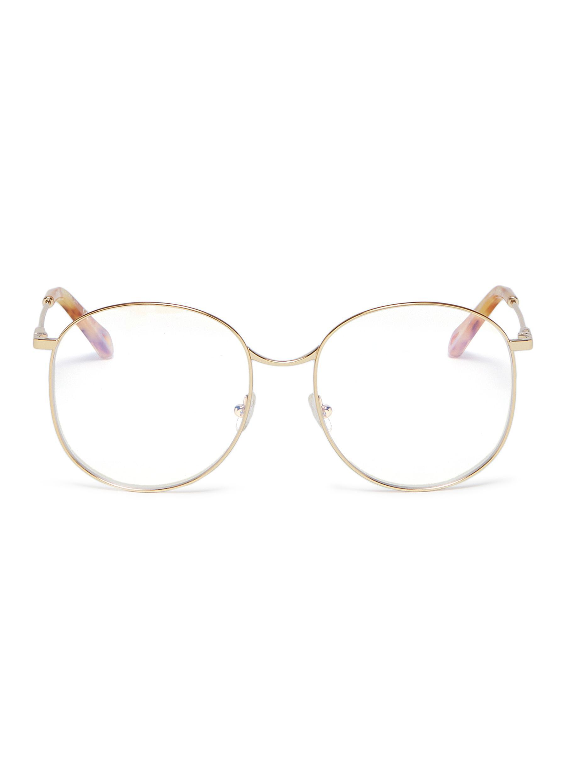 795001c7e28 Lyst - Chloé  palma  Metal Oversized Round Optical Glasses in Metallic