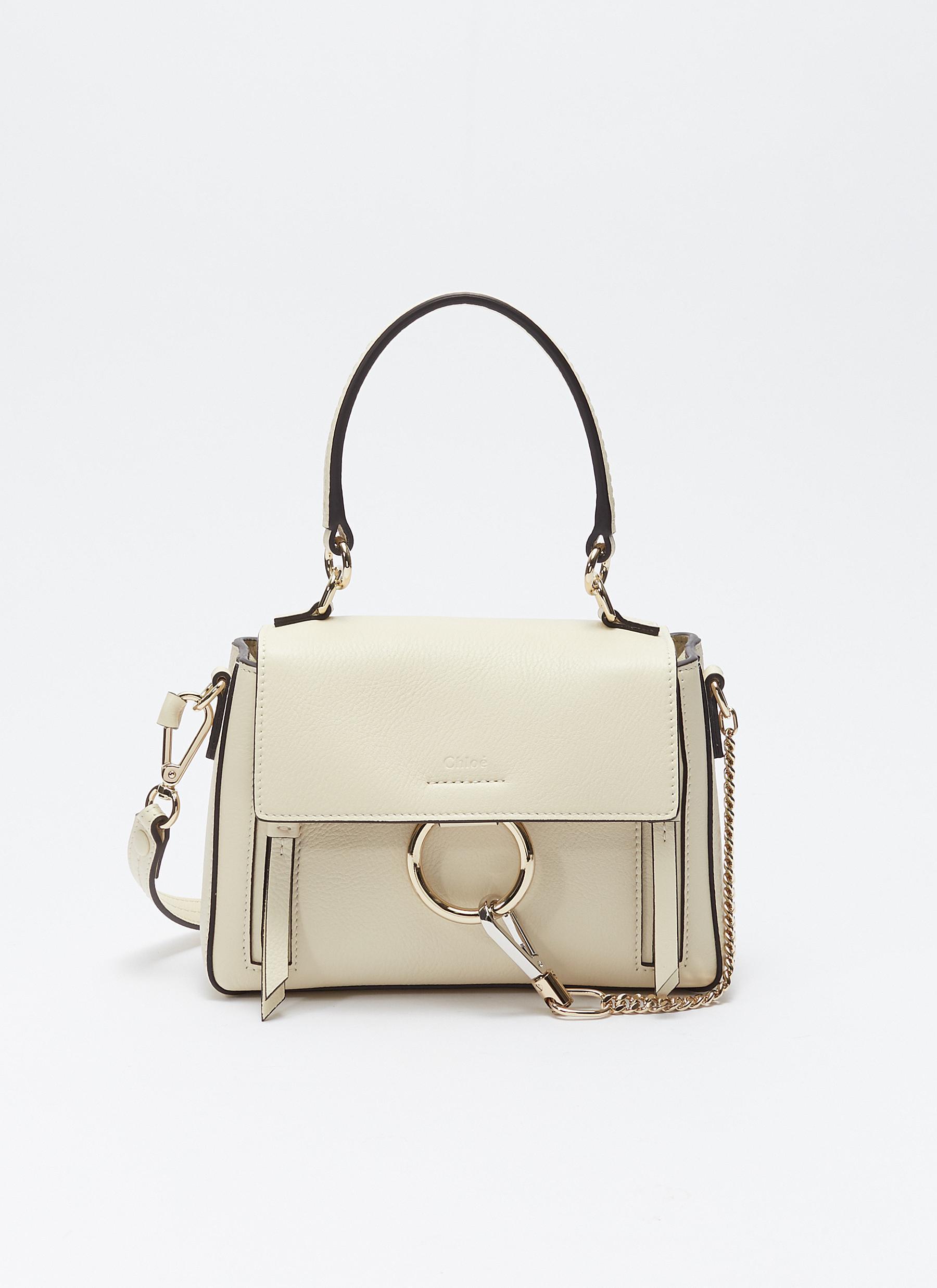 afe5c0ea7 Chloé 'faye Day' Mini Leather Shoulder Bag in Black - Lyst