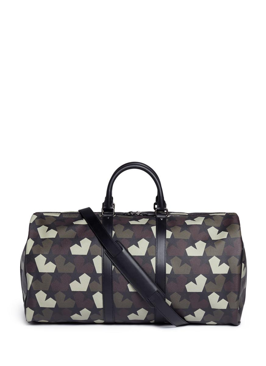b0f26ce9bb5 Lyst - Ports 1961 Camouflage Star-Print Faux-Leather Duffle Bag in ...