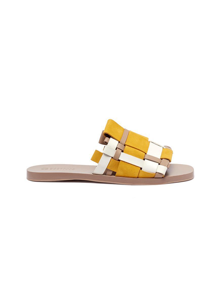 Mercedes Castillo Niala Woven Slide Sandals SZS0Y7d47k