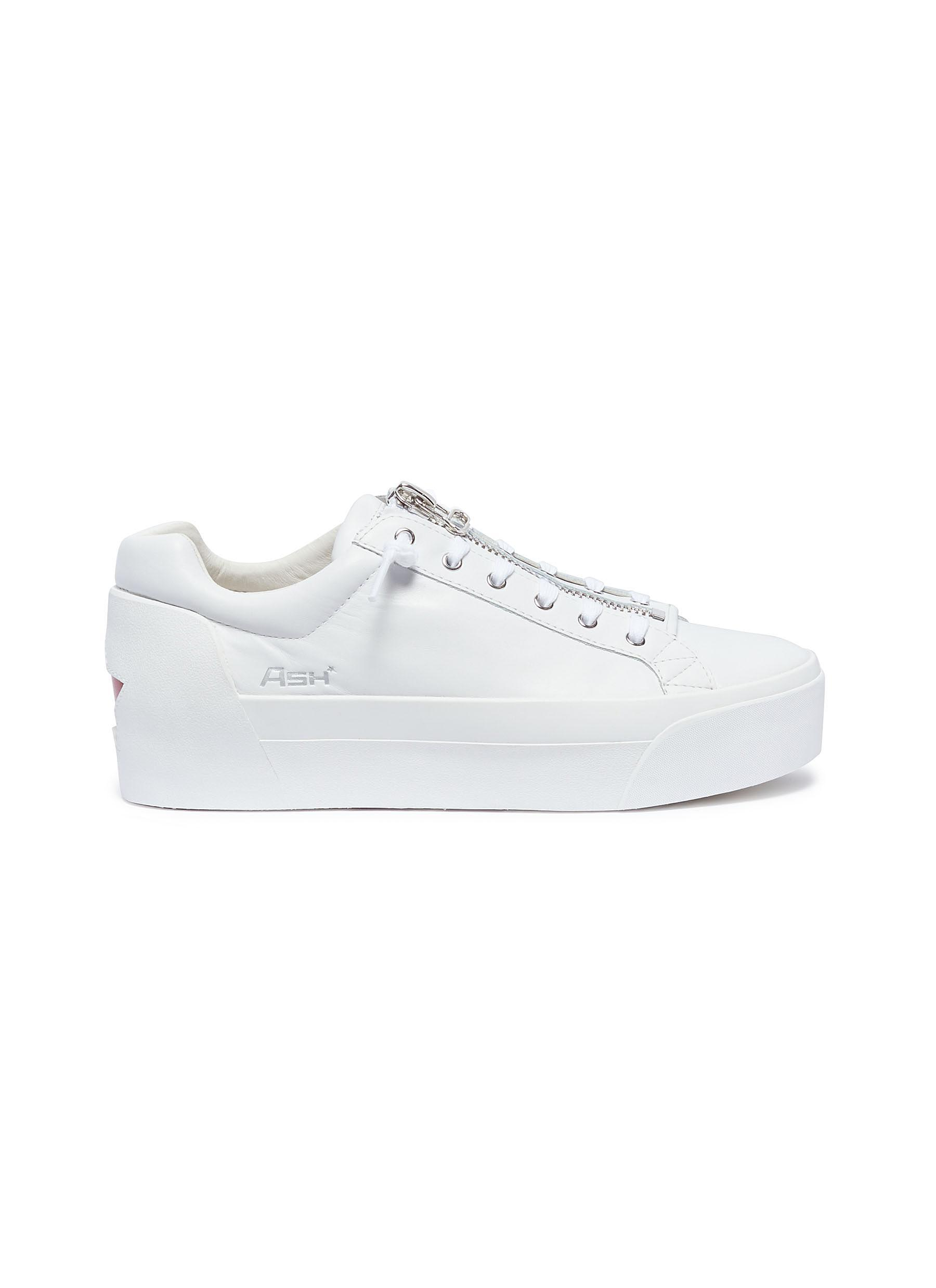 7d7fe77c9092 Ash  buzz  Zip Leather Platform Sneakers in White for Men - Lyst