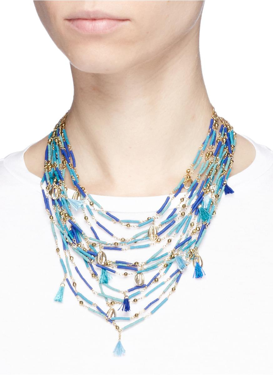 Rosantica Tortuga necklace with blue beads hJ3YaZ5