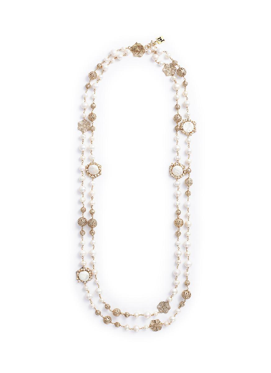 Rosantica Corte beaded necklace OVD3rSgsd