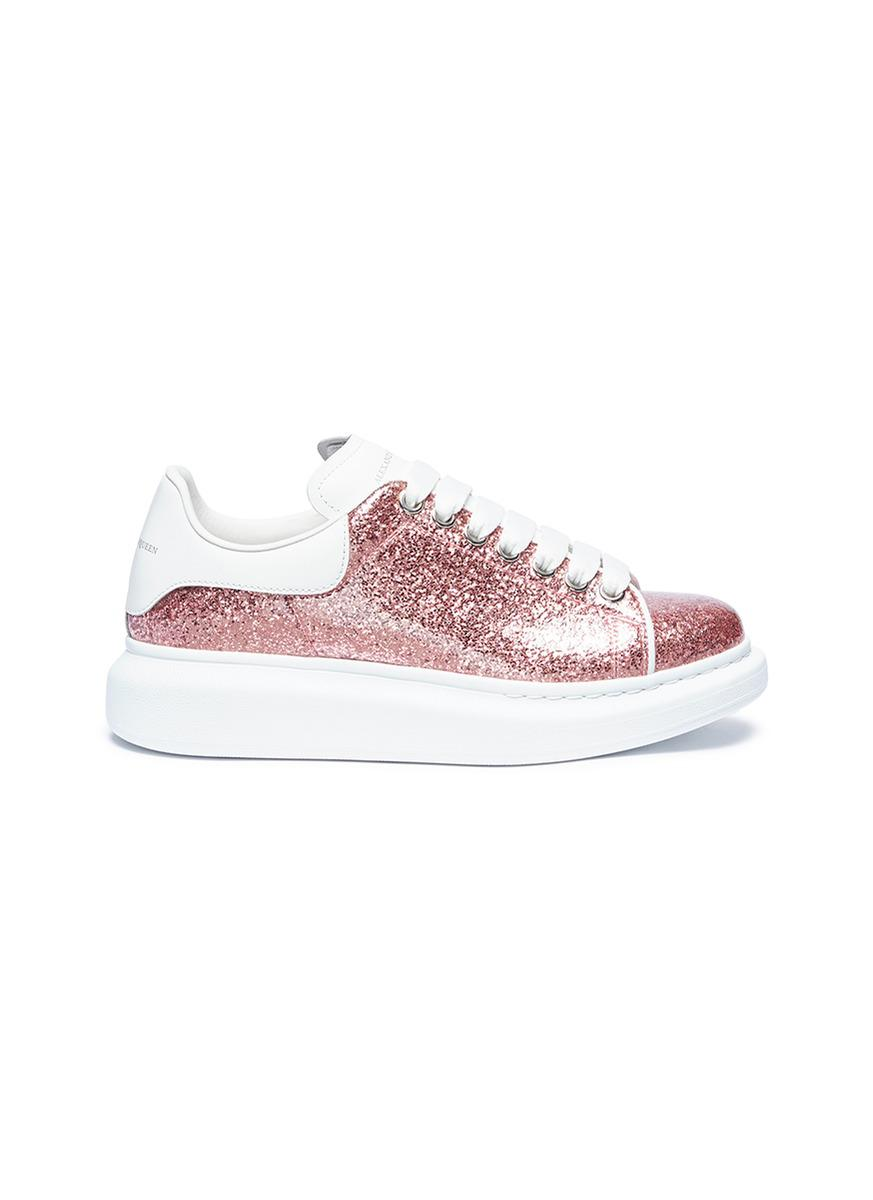 best cheap 81a64 2390c Alexander McQueen larry Chunky Outsole Glitter Sneakers in P