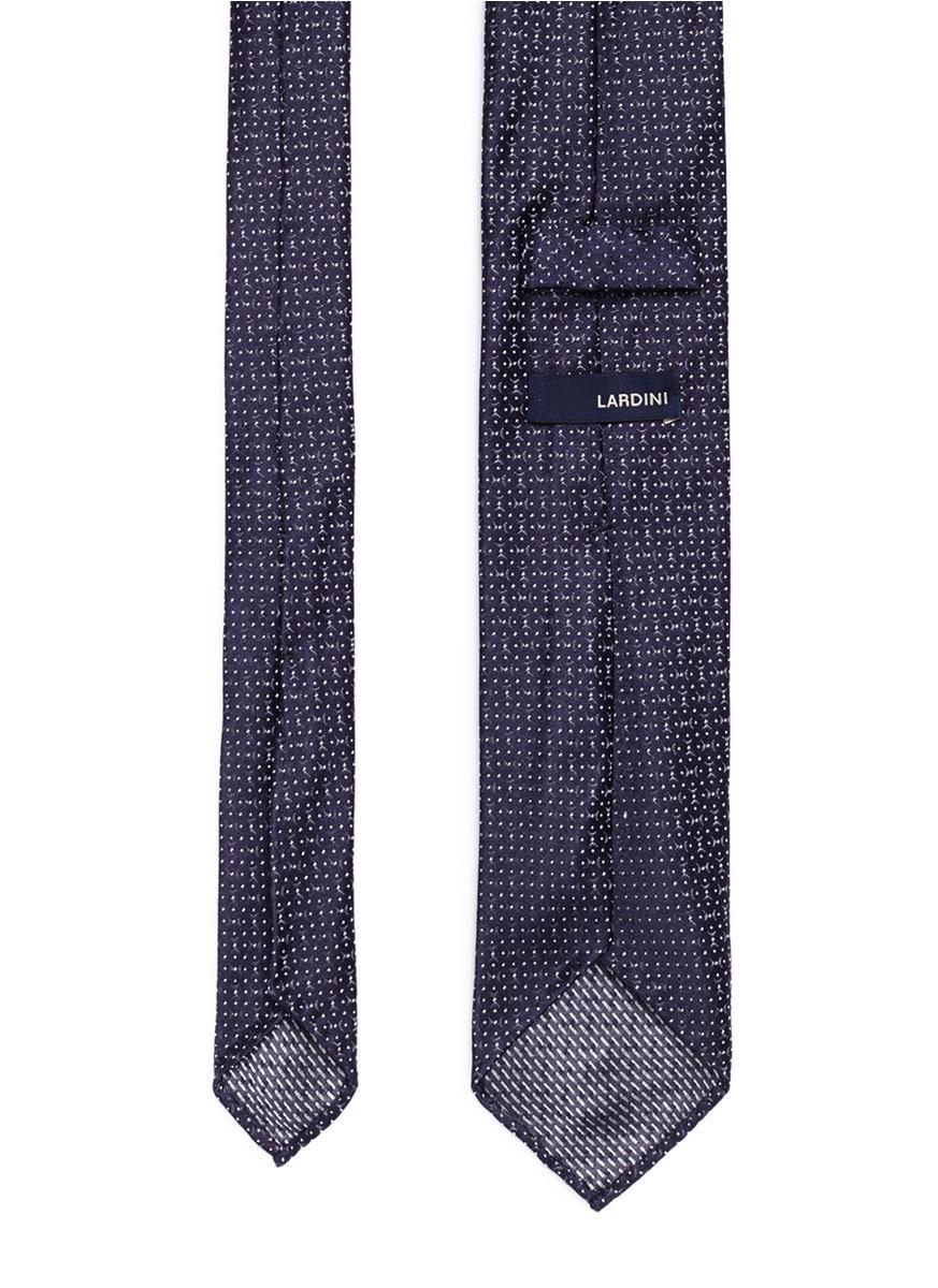 Cravate Jacquard Cercle - Lardini Bleu qTKNr