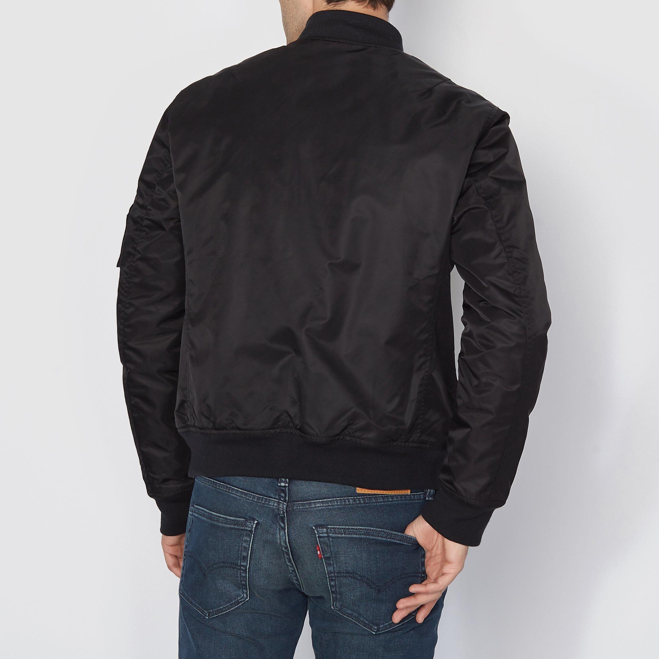 schott nyc bomber jacket in black for men lyst. Black Bedroom Furniture Sets. Home Design Ideas