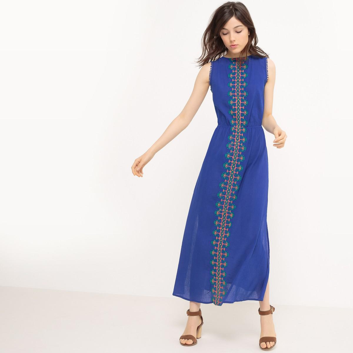 Lyst - La Redoute Fancy Maxi Dress in Blue ddb448c7d