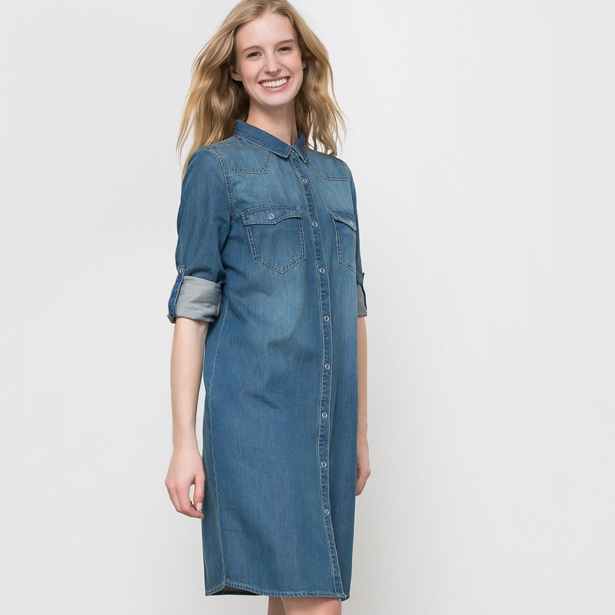 dcfc92cf7b6 Sharagano Womens Denim Shirt Dress