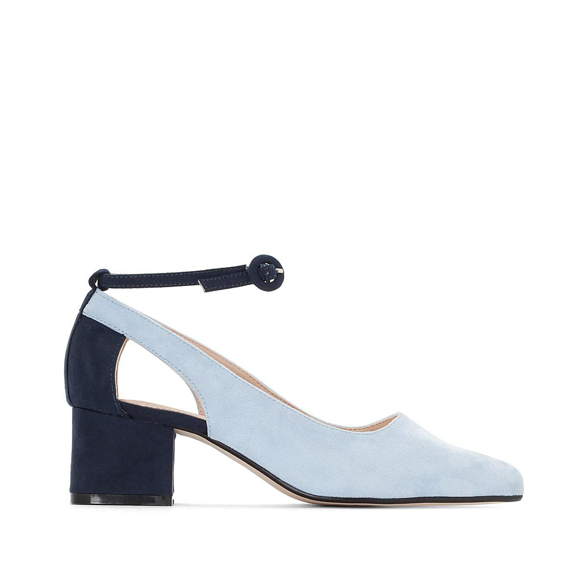 2d4bf6ade00d Lyst - La Redoute Ballet Pumps With Twisted Detail in Blue