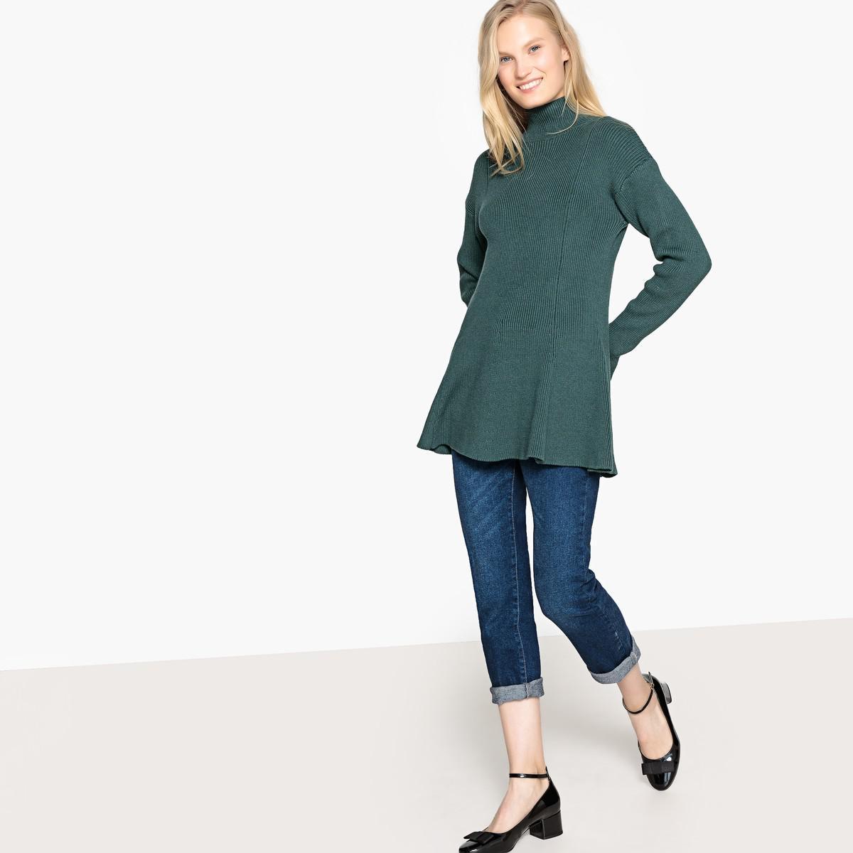 d1975c04df71e3 Lyst - La Redoute High Neck Fine Gauge Knit Jumper sweater in Green