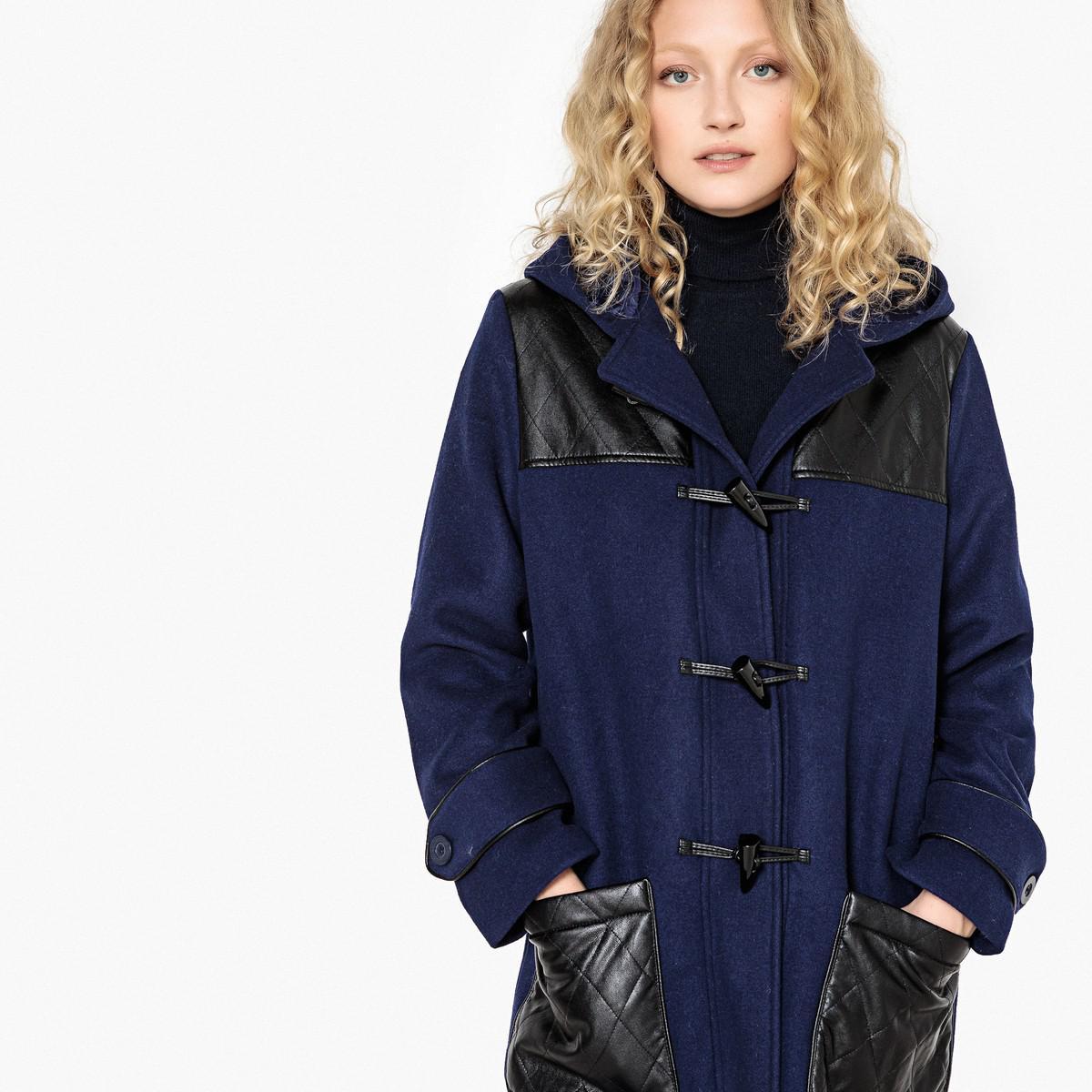acheter pas cher Site officiel correspondant en couleur Lyst - La Redoute Wool Mix Duffle Coat With Quilted Detail ...