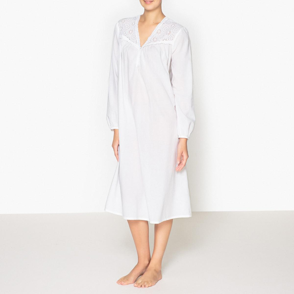 19e4435070 Lyst - La Redoute Nightshirt in White