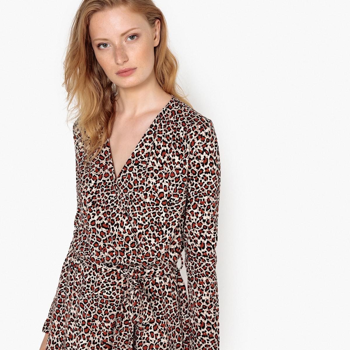65ac5e8262 Lyst - La Redoute Leopard Print Wrapover Dress