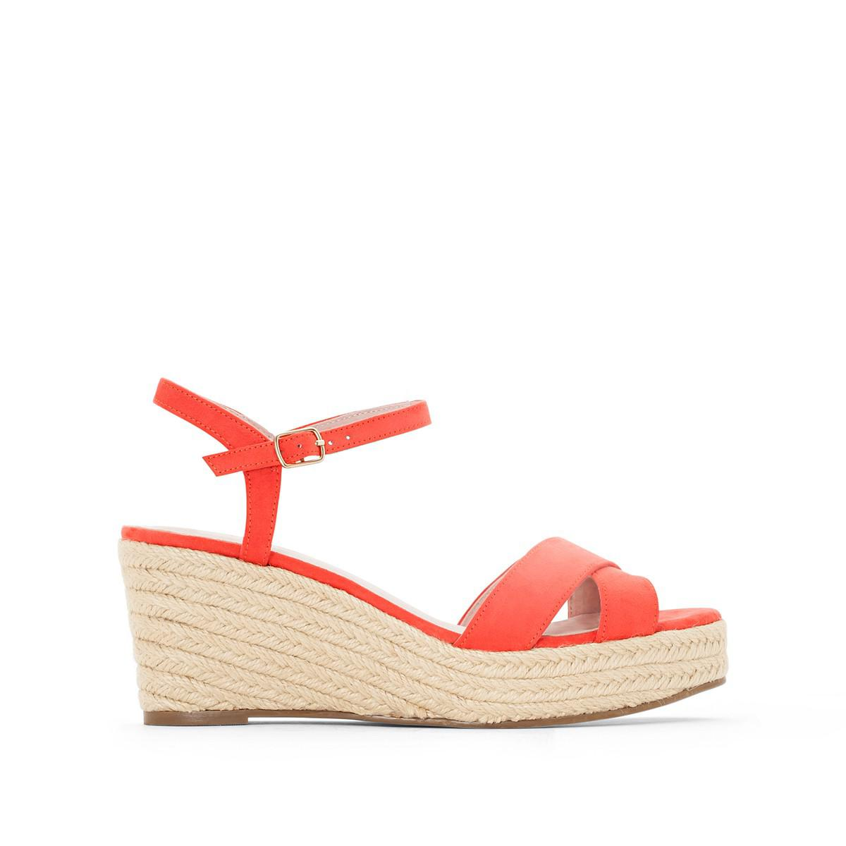 La Redoute Collections Sandals with Crossover Straps and Rope Wedge Sole new arrival online newest for sale discount find great outlet hot sale u3HDBg6