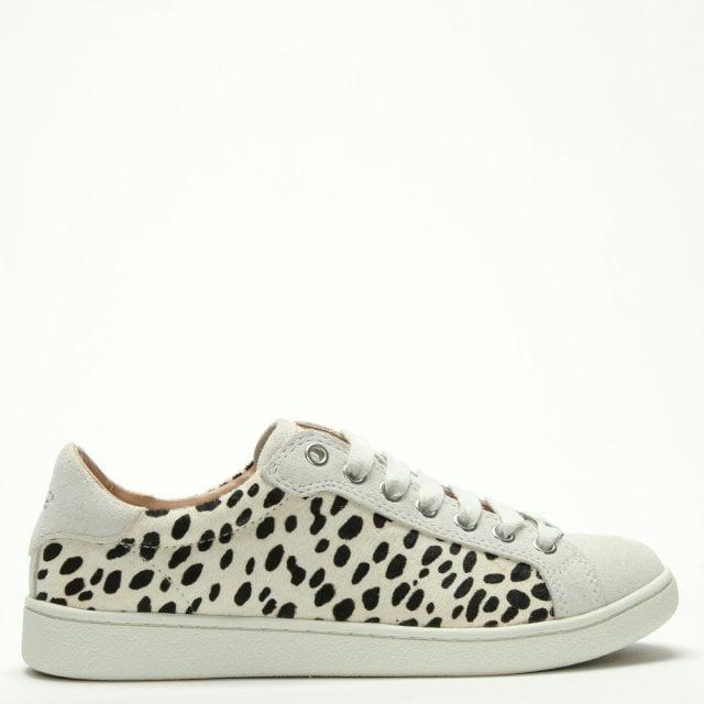 dcf0bbae9a4 Ugg Milo Exotic White Calf Hair Lace Up Trainers in White - Lyst