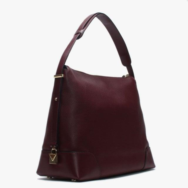 495157a090030f Michael Kors - Purple Large Crosby Oxblood Pebbled Leather Shoulder Bag -  Lyst. View fullscreen