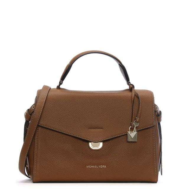43252f9013133c Michael Kors Bristol Acorn Pebbled Leather Contrast Stitch Satchel ...