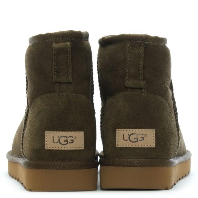 9452686d343 ... get lyst ugg classic mini ii spruce twinface boots in green ec52b 401b2  ...
