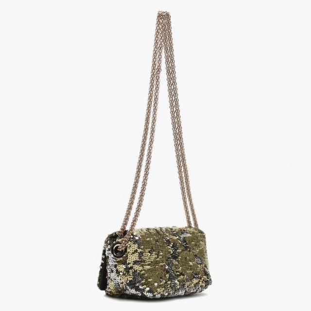 8704f4e371 Sonia Rykiel - Metallic Small Le Copain Gold Sequin Cross-body Bag - Lyst.  View fullscreen
