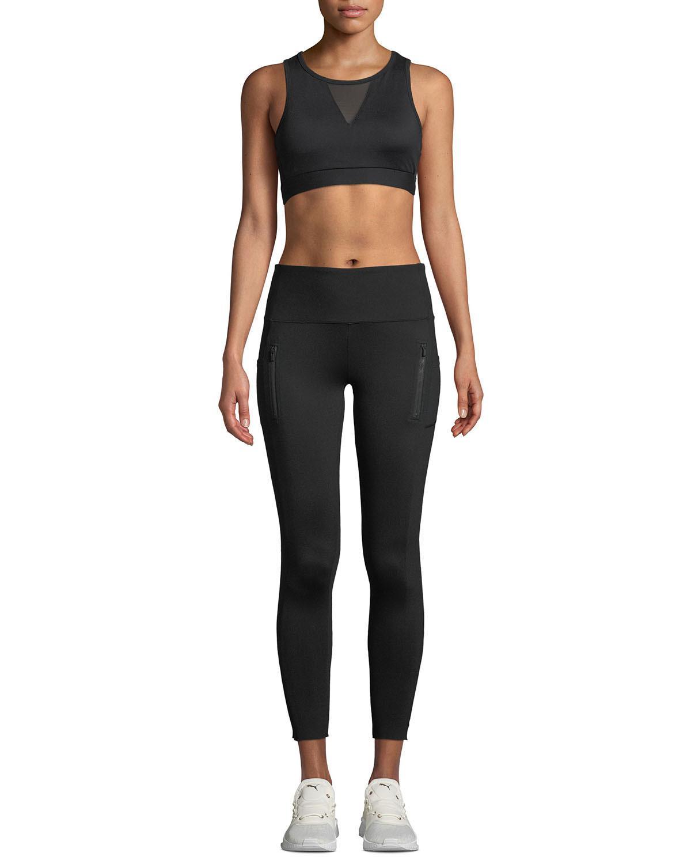 526b2d3df0 X By Gottex - Black Zip Pocket High-waist Cropped Leggings - Lyst. View  fullscreen