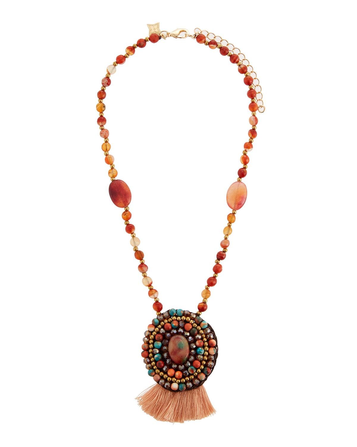 Panacea Stone & Dangles Pendant Necklace