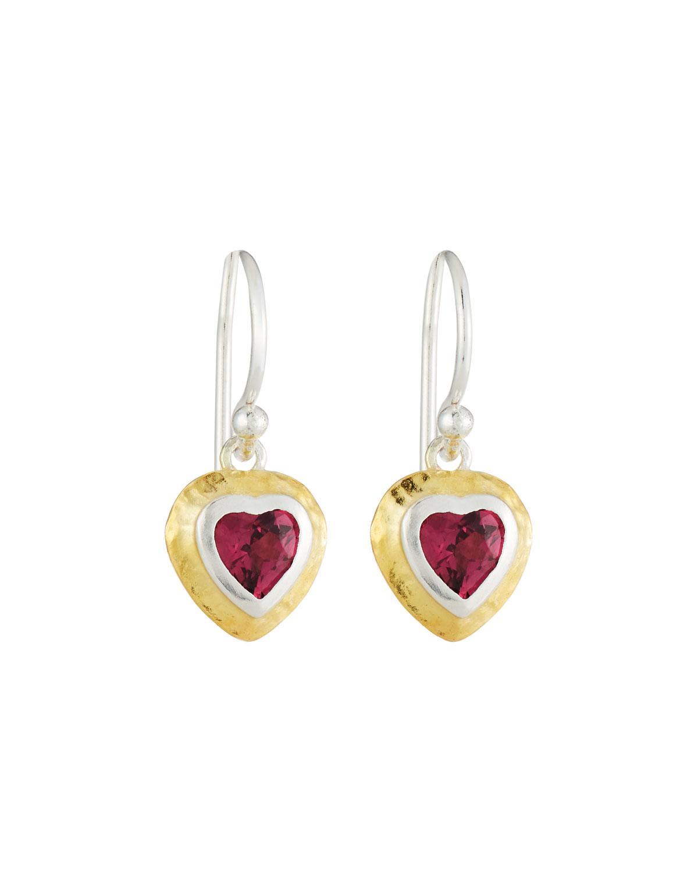 Gurhan Romance Rhodolite Garnet Heart Stud Earrings eFvG7n7