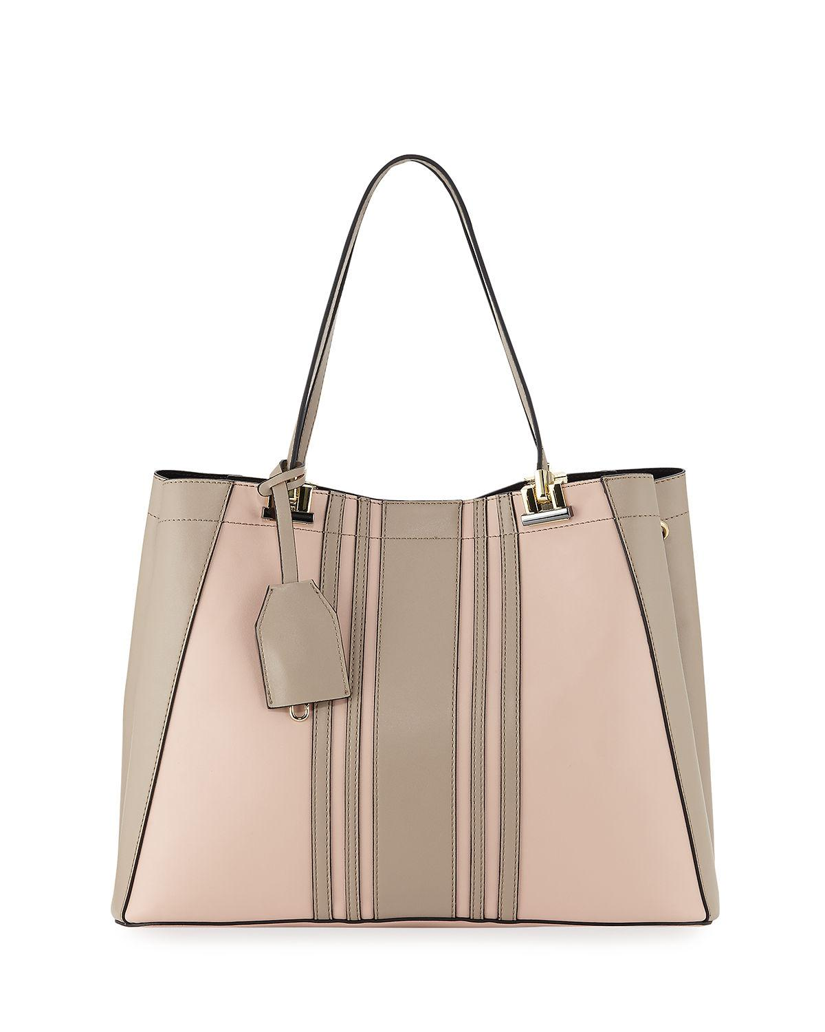 3af68434a Neiman Marcus. Women's Roni Faux-leather Colorblock Satchel Bag