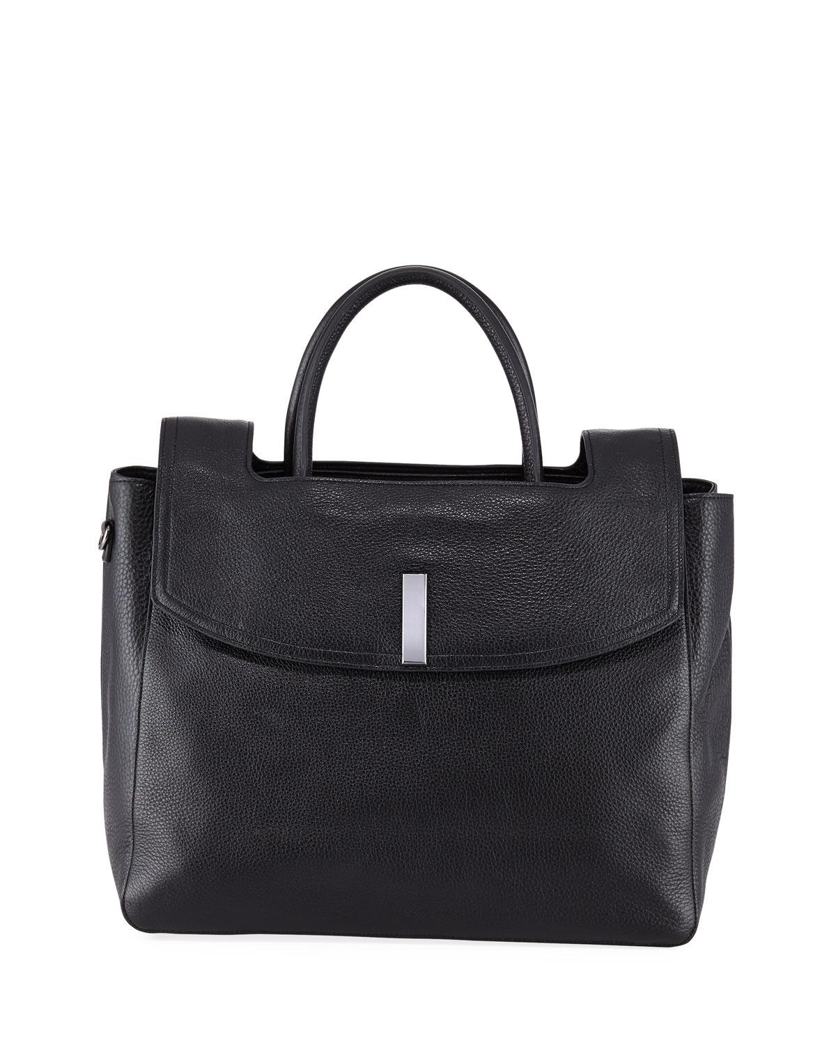 Lyst - Halston Large Tote Bag With Flap in Black 1999da6392d19